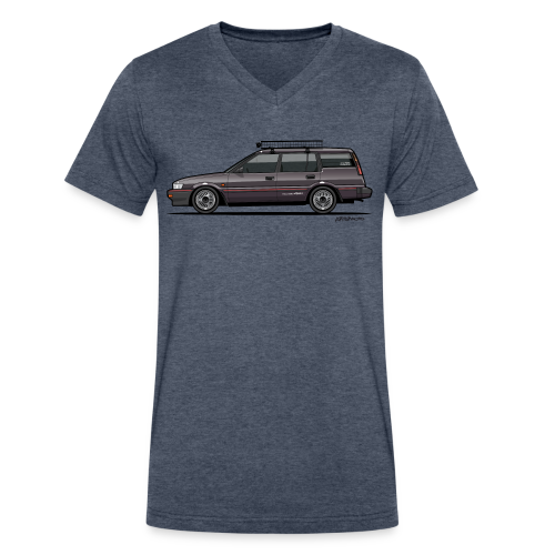 Retronics Garage's AE95 Corolla 4WD Wagon - Men's V-Neck T-Shirt by Canvas
