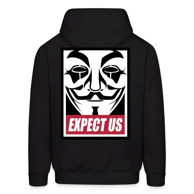 Anonymous Expect us - Men's Hoodie