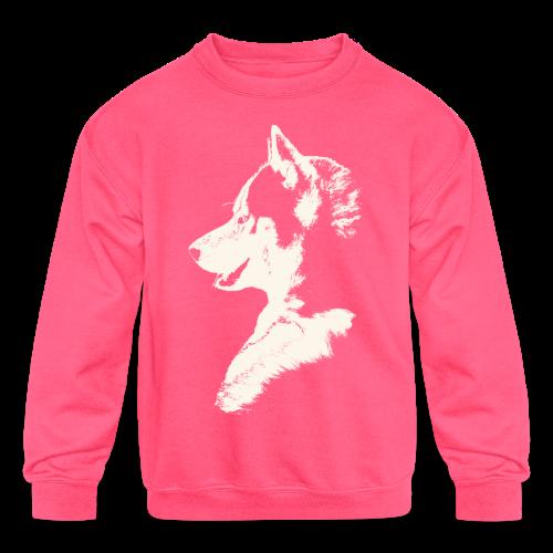 Siberian Husky Kid's Sweatshirts Husky Dog Shirts  - Kids' Crewneck Sweatshirt
