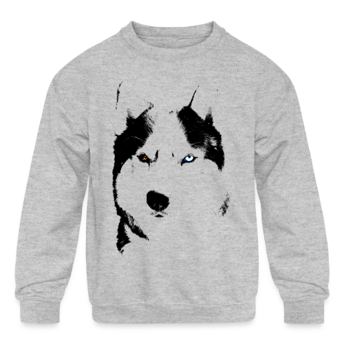 Siberian Husky Kid's Sweatshirts Husky Shirts  - Kids' Crewneck Sweatshirt