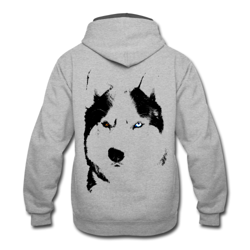 Hoodies & Shirt Siberian Husky  Eyes Shirts - Contrast Hoodie