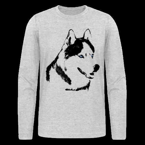 Men's Husky Shirts Siberian Husky  Long Sleeve T-shirts - Men's Long Sleeve T-Shirt by Next Level