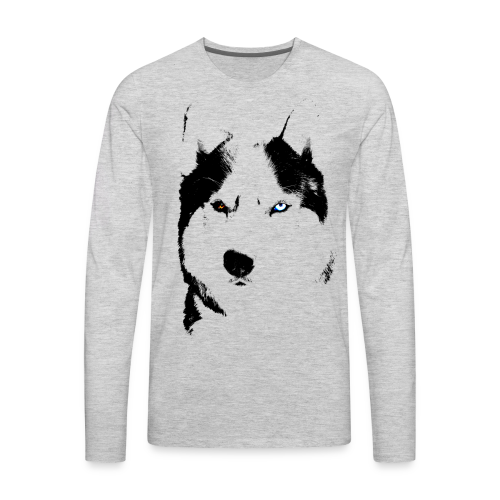Husky Shirt Siberian  Bi-eye Husky Shirts - Long Sleeve - Men's Premium Long Sleeve T-Shirt