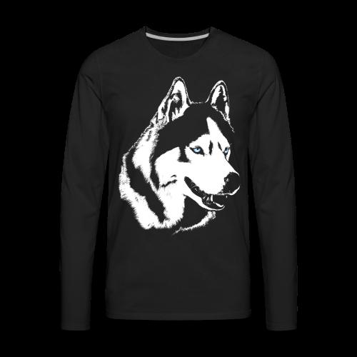 Men's Husky Shirts Siberian Husky  Long Sleeve S-shirts - Men's Premium Long Sleeve T-Shirt