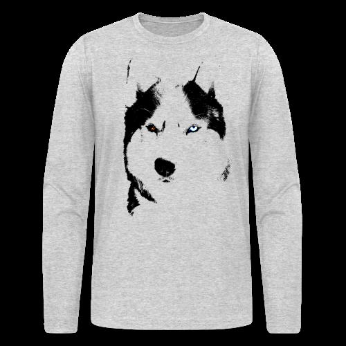 Men's Husky Shirts Siberian Husky  Long Sleeve S-shirts - Men's Long Sleeve T-Shirt by Next Level
