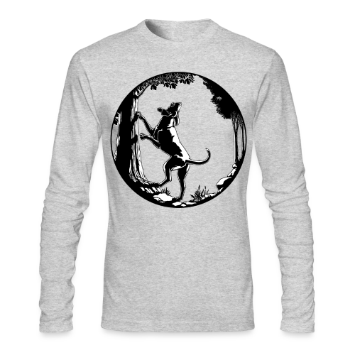 Hunting Dog Shirts Men's Hound Dog Art Shirts - Men's Long Sleeve T-Shirt by Next Level