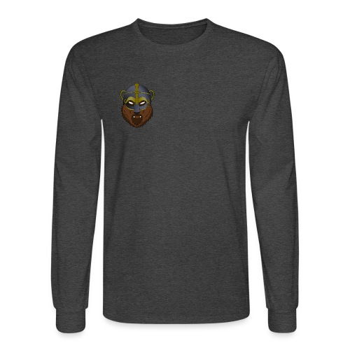 Viking Bear & Sword Flower (Back) - Longsleeve - Men's Long Sleeve T-Shirt