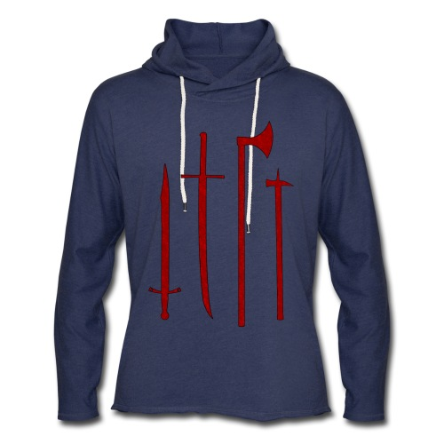 Armory (Red, Textured) - Light Hoodie - Unisex Lightweight Terry Hoodie