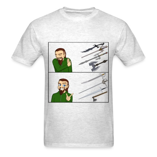Fantasy vs. Real Swords Reaction Meme - Standard T-Shirt - Men's T-Shirt