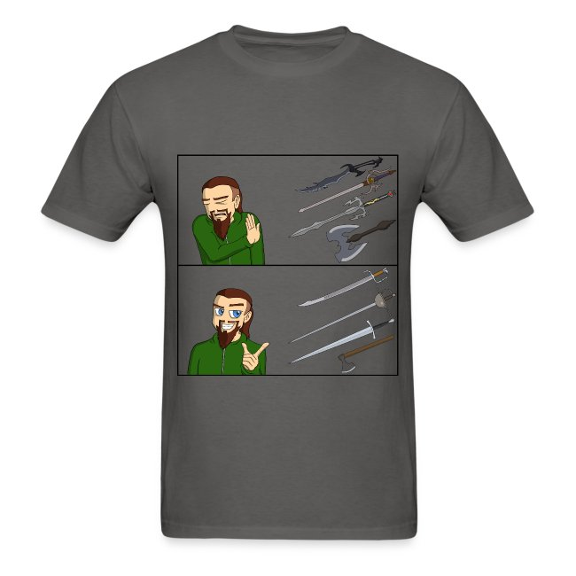 Fantasy vs. Real Swords Reaction Meme - Standard T-Shirt