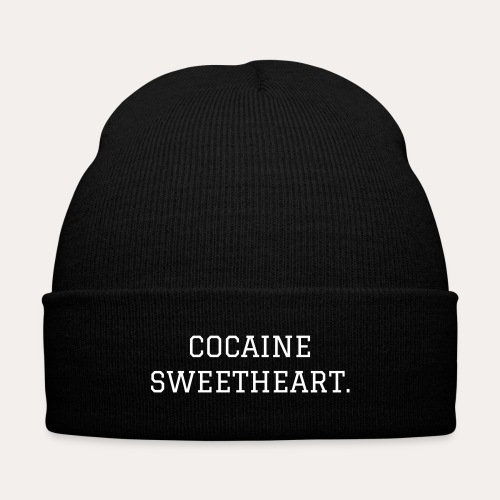 Cocaine Sweetheart. beanie - Knit Cap with Cuff Print