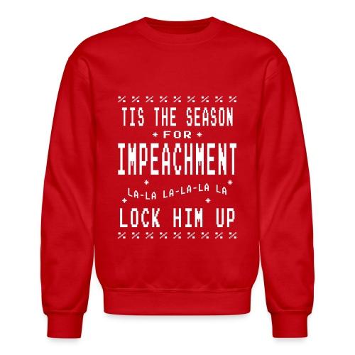 Season For Impeachment Mens Red Crewneck Sweatshirt - Crewneck Sweatshirt