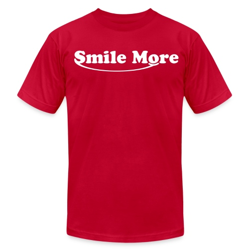 smilemore1 - Men's T-Shirt by American Apparel