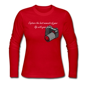 Capture the best moments of your life with your heart - Women's Long Sleeve Jersey T-Shirt