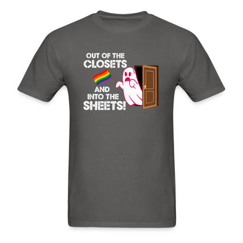 Out of the Closets Ghost Shirt - Men's T-Shirt