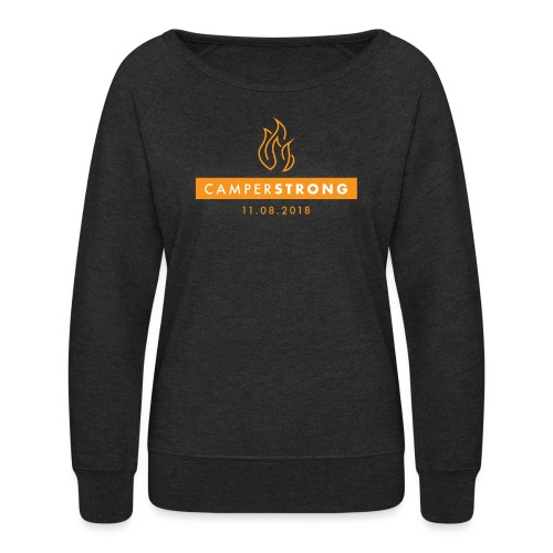 CAMPERSTRONG women's sweatshirt Dark Grey Heather - Women's Crewneck Sweatshirt