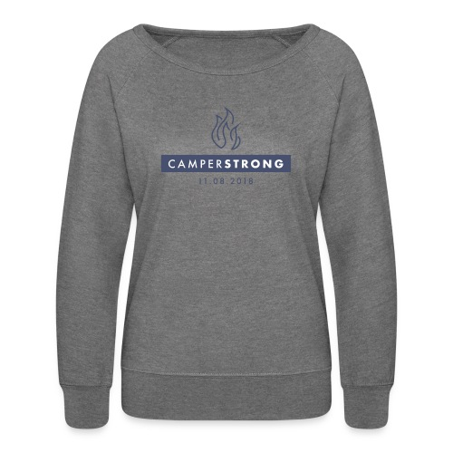 CAMPERSTRONG women's sweatshirt Grey Heather - Women's Crewneck Sweatshirt