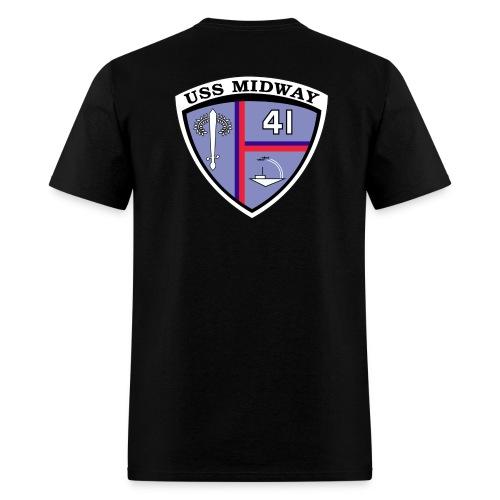 USS MIDWAY CREST BACK PRINT TEE - Men's T-Shirt