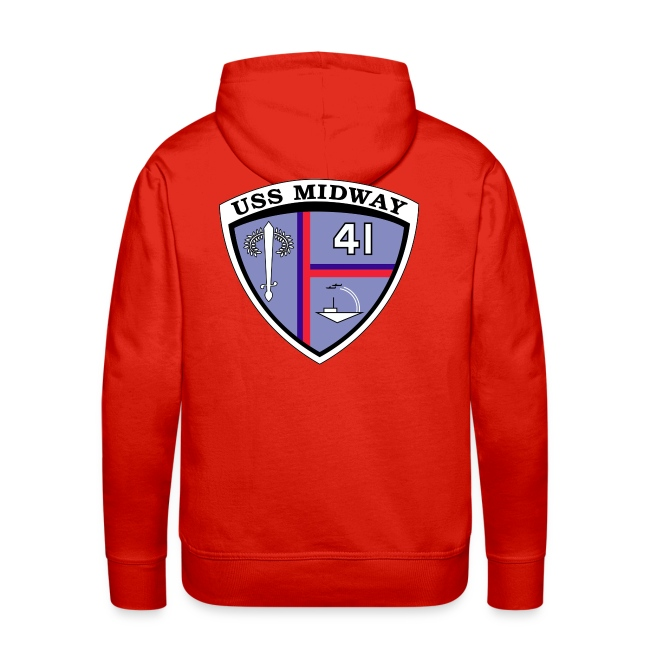 USS MIDWAY CREST BACK PRINT HOODIE
