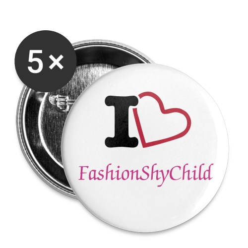 I Heart Fashionshychild Large Buttons - Buttons large 2.2'' (5-pack)
