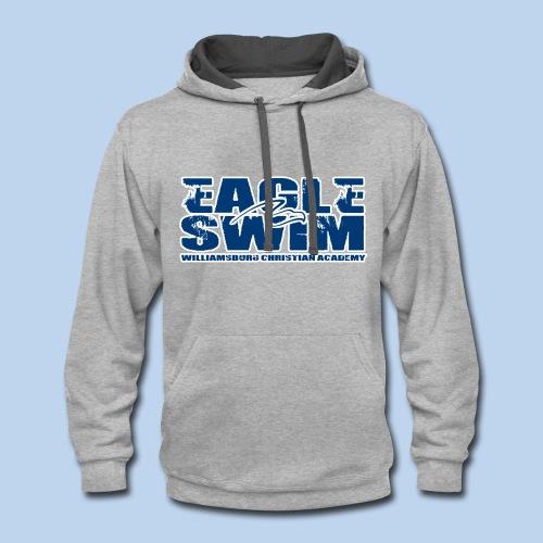 Contrast Eagle Swim Hoodie - Contrast Hoodie