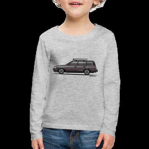 Retronics Garage's AE95 Corolla 4WD Wagon - Kids' Premium Long Sleeve T-Shirt