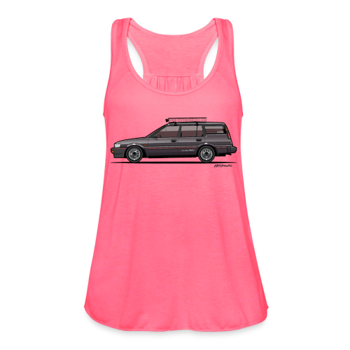 Retronics Garage's AE95 Corolla 4WD Wagon - Women's Flowy Tank Top by Bella