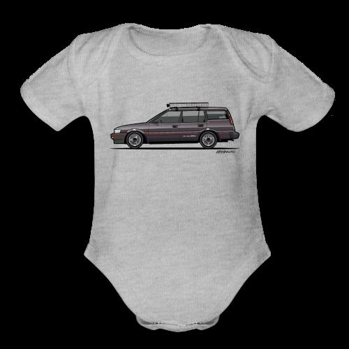 Retronics Garage's AE95 Corolla 4WD Wagon - Organic Short Sleeve Baby Bodysuit