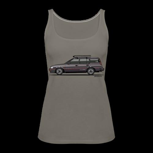 Retronics Garage's AE95 Corolla 4WD Wagon - Women's Premium Tank Top
