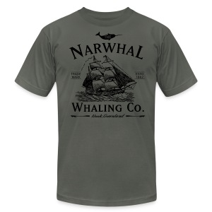 Narwhal Whaling Co. - Men's T-Shirt by American Apparel