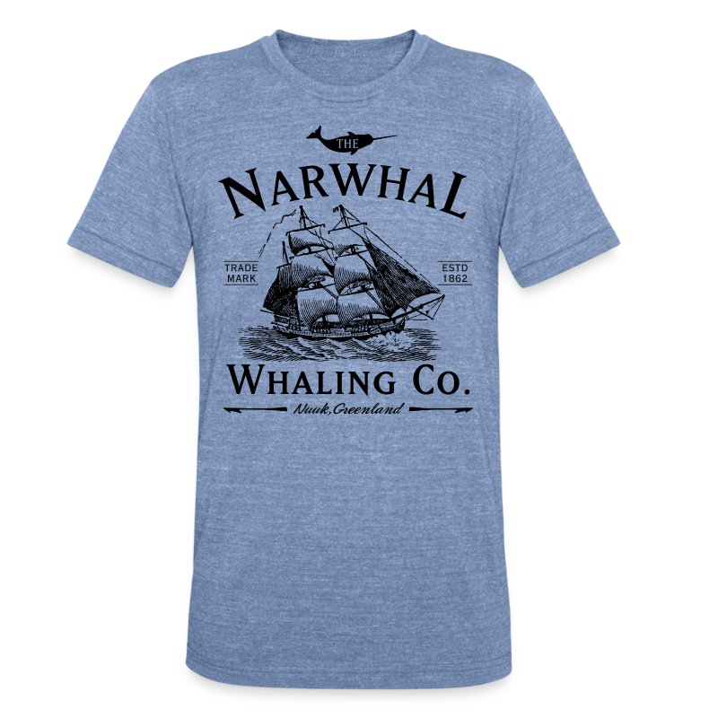 Narwhal Whaling Co. - Unisex Tri-Blend T-Shirt by American Apparel