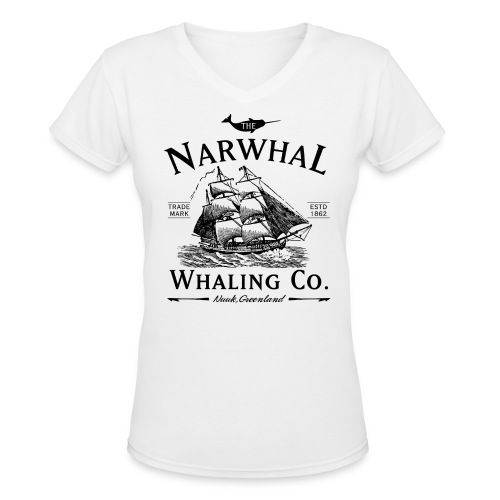 Narwhal Whaling Co. - Women's V-Neck T-Shirt