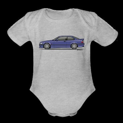 M-Drei Coupe Technoviolet - Organic Short Sleeve Baby Bodysuit