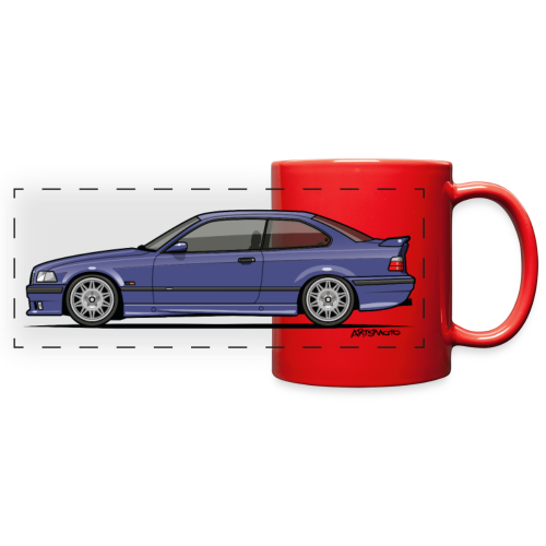 M-Drei Coupe Technoviolet - Full Color Panoramic Mug