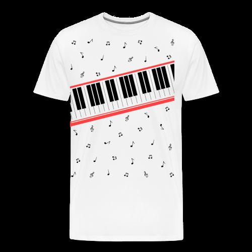 MJ Beat It Piano and Music Notes T-Shirt - Men's Premium T-Shirt
