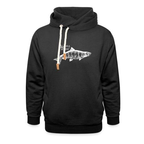 Alaska Tough Salmon Hoodie Unisex - Shawl Collar Hoodie