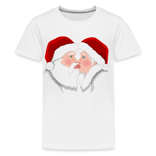 Christmas Shirts Festive Christmas Kisses Holiday Shirts Kid's - Kids' Premium T-Shirt
