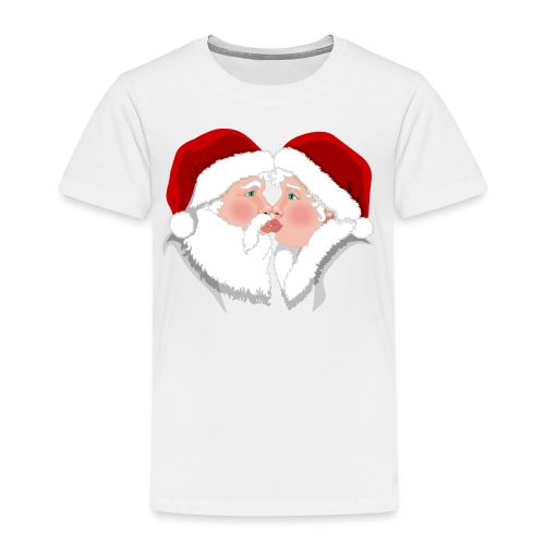 Christmas Shirts Festive Christmas Kisses Holiday Shirts Toddler - Toddler Premium T-Shirt