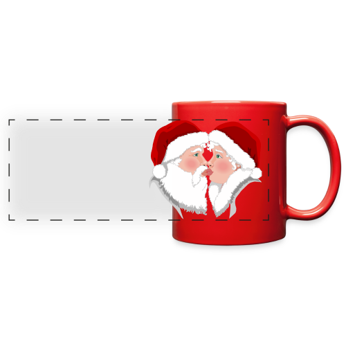 Christmas Cups Festive Santa  Kisses Cups - Full Color Panoramic Mug