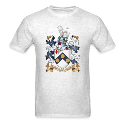 """James Bonds coat-of-arms and family motto """"The world is not enough"""" - Men's T-Shirt"""