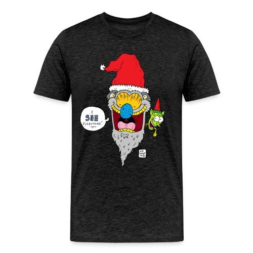 Santa Sees All - Men's Premium T-Shirt