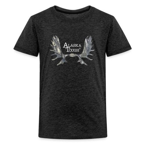 Moose Camo Antlers Shirt for Kids - Kids' Premium T-Shirt