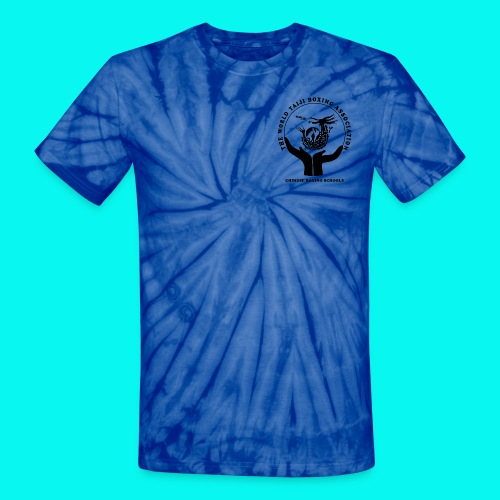 Unisex Tie Dye T-Shirt with black logos front and back (choice of colours) - Unisex Tie Dye T-Shirt