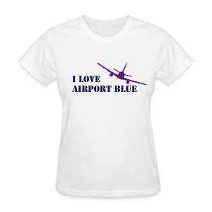 Airport Blue -Fitted Tee - Women's T-Shirt