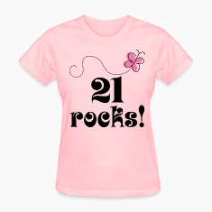 21st Birthday (21 Rocks) T-shirt | Birthday Shirts