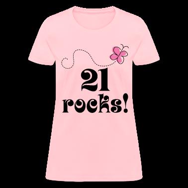 21st Birthday (21 Rocks) T-shirt | Birthday Shirts
