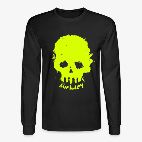 Mens Skull Burkley Neon Yellow - Men's Long Sleeve T-Shirt