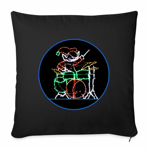 Elf Drummer At Xmas - Throw Pillow Cover