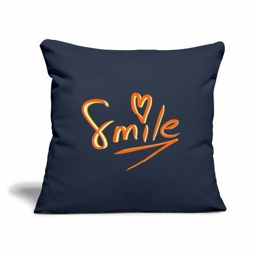 "Smile Heart Hand Drawing - Throw Pillow Cover 18"" x 18"""
