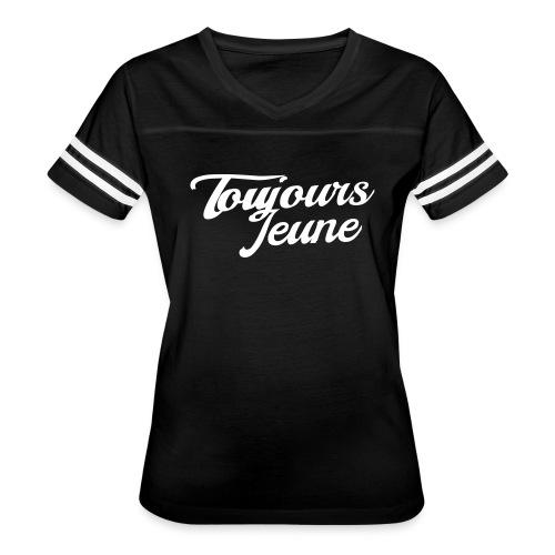 Game Time Chic - White Logo - Women's Vintage Sport T-Shirt